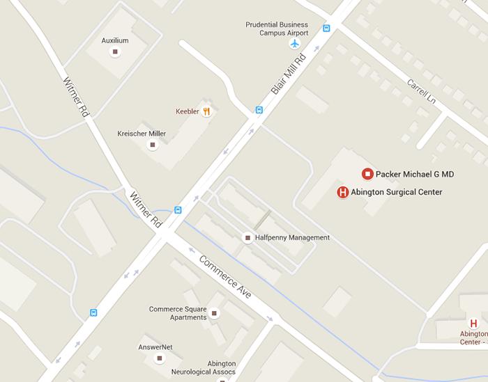 Abington Surgical Center map